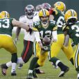 Aaron Rodgers (n°12) lors du match Green Bay Packers - Tampa Bay Buccaneers. Le 24 janvier 2021.