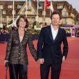 """Irène Jacob et son mari Jérôme Kircher à la première de """"ADN"""" lors du 46ème Festival du Cinéma Américain de Deauville, le 11 septembre 2020. © Olivier Borde/Bestimage"""