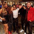 David et Cathy Guetta, réunis pour l'anniversaire de leur fils aîné Elvis. Dubaï, le 9 février 2021.