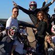 Cathy Guetta a partagé des photos de vacances avec son ex-mari David Guetta, leur fils Elvis et plusieurs amis sur sa page Instagram, il y a un an.