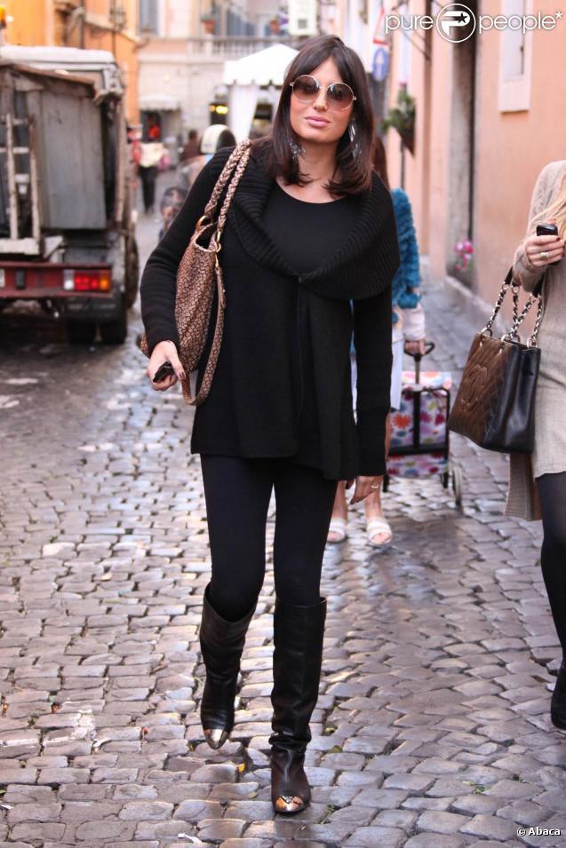 Elisabetta Gregoraci à Rome, le 20 octobre 2009