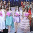 Les quatre finalistes du concours Elite Model Look 2009, le 18/10/09 en Chine.