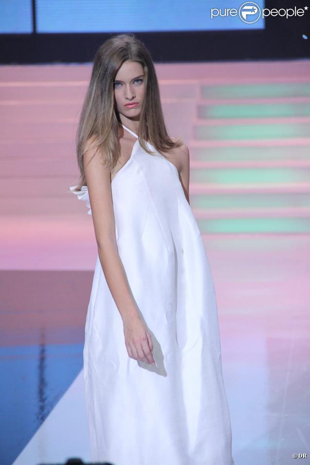 Manon Pieto, la nouvelle recrue française de l'agence Elite, arrivée 3e ex aequo au concours Elite Model Look 2009, le 18/10/09 en Chine.