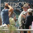 """Exclusif - Julie Delpy sur le tournage de la prochaine série de Netflix """"On The Verge"""" dans le quartier de Venice Beach à Los Angeles. Le 30 septembre 2020."""