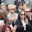 Joëlle Bercot (femme de Guy Bedos), Victoria Bedos, Muriel Robin et sa compagne Anne Le Nen - Hommage à Guy Bedos en l'église de Saint-Germain-des-Prés à Paris. Le 4 juin 2020.