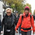 Muriel Robin et sa compagne Anne Le Nen - Marche contre les violences sexistes et sexuelles organisée par le collectif NousToutes. Paris, le 23 Novembre 2019. © Coadic Guirec / Bestimage