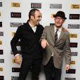 Jacques Audiard et Abdel Raouf Dafri, à l'occasion de la présentation d' Un Prophète , dans le cadre du 53e London Film Festival, le 24 octobre 2009.