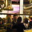 Novak Djokovic fête sa victoire à l'Open d'Australie dans son restaurant à Belgrade. Le 19 février 2020.