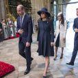 Le prince William, duc de Cambridge, Kate Catherine Middleton (enceinte), duchesse de Cambridge, Meghan Markle et le prince Harry - La famille royale d'Angleterre lors de la cérémonie du Commonwealth en l'abbaye Westminster à Londres. Le 12 mars 2018