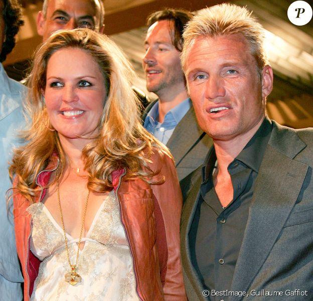 --EXCLUSIF-- Dolph Lundgren et sa femme, Anette Qviberg au Festival de Cannes. © Guillaume Gaffiot/Bestimage