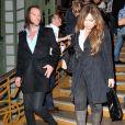 Helene Segara et son mari Mathieu Lecat - Soiree d'inauguration de la FIAC 2013 (Foire Internationale d'Art Contemporain) au Grand Palais a Paris le 23 octobre 2013.