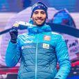 Martin Fourcade (FRA) remporte la médaille d'or sur l'épreuve du 20km individuel messieurs aux Championnats du monde de Biathlon 2020 à Antholz Anterselva, le 19 février 2020. © Imago / Panoramic / Bestimage