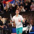 Novak Djokovic remporte l'Open d'Australie, en dominant, 7-5, 6-2, 6-2, le russe D.Medvedev en finale, à Melbourne, Australie, le 21 février 2021. © CSM/Zuma Press/Bestimage