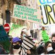 Marion Cotillard - Marche pour le climat, de la place de l'Opéra à la place de la République à Paris. Le 28 mars 2021. © Panoramic / Bestimage