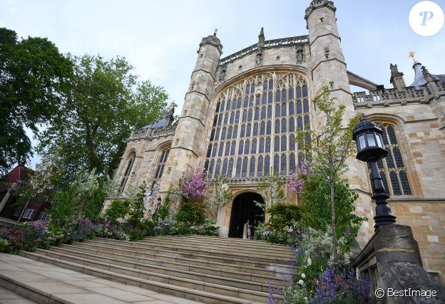 L'entrée de la chapelle Saint-Georges du château de Windsor.