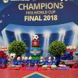 Blaise Matuidi et son épouse Isabelle ont organisé une fête d'anniversaire sur le thème Coupe du monde de football pour leur fils Eden. Le 16 avril 2021.