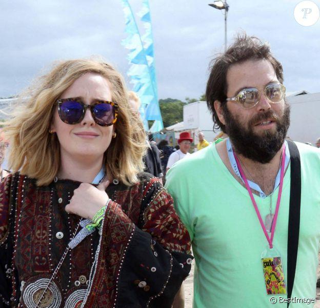 Adele et son ex-mari Simon Konecki au festival de Glastonbury