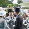 Le prince William, duc de Cambridge, Catherine (Kate) Middleton, duchesse de Cambridge, Zara Phillips (Zara Tindall), Mike Tindall - La famille royale britannique et les souverains néerlandais lors de la première journée des courses d'Ascot 2019, à Ascot, Royaume Uni, le 18 juin 2019.