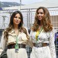 Kelly Piquet et Egle Ruskyte (compagne de Nico Hulkenberg) avant le départ du 77 ème Grand Prix de Formule 1 de Monaco, le 26 Mai 2019.
