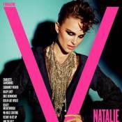 Natalie Portman décolletée jusqu'au nombril et coiffure punk... une vraie gravure de mode !