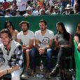 La chanteuse Shy'm était présente au Monte Carlo Country Club à Roquebrune Cap Martin le 14 avril 2016 pour soutenir son fiancé le tennisman français Benoît Paire.
