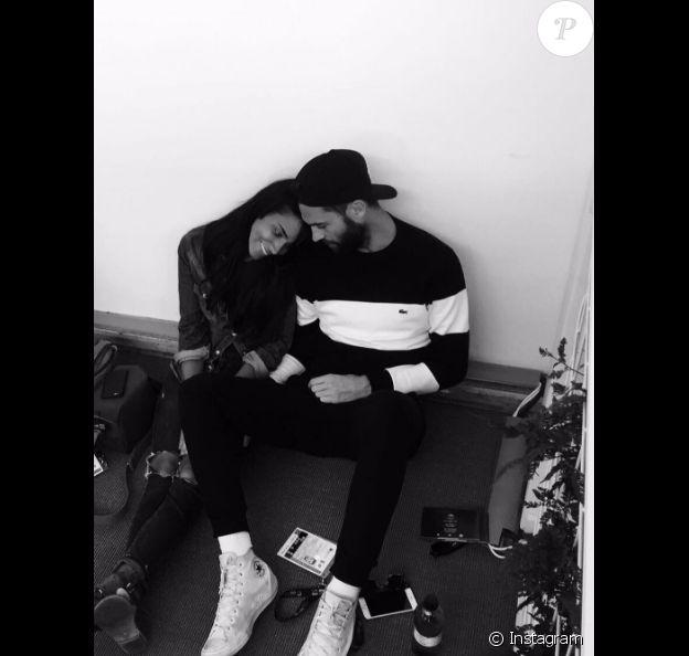 Shy'm avec Benoît Paire sur Instagram, le 14 février 2017.