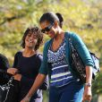Michelle Obama et Malia de retour à la Maison Blanche après un week-end détente à Camp David le 8/11/09