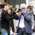 Karl Lagerfeld dans les rues de Buenos Aires en plein shooting pour Chanel