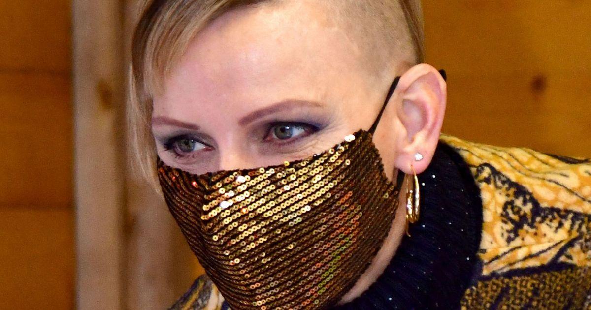 Charlène de Monaco : Coupe punk et tenue camouflage, elle fait son grand retour