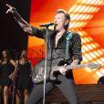 """Exclusif - Johnny Hallyday en concert au POPB de Bercy et au Theatre de Paris a Paris - Jour 2 de la tournee """"Born Rocker Tour""""."""