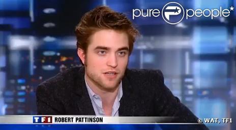 Laurence Ferrari a pour invité Robert Pattinson de Twilight ce 10 novembre 2009 - capture d'écran