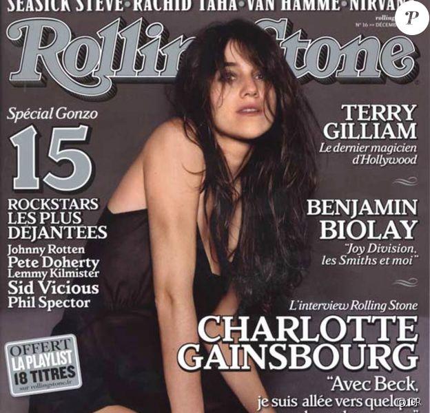 Charlotte Gainsbourg en couverture de Rolling Stone.
