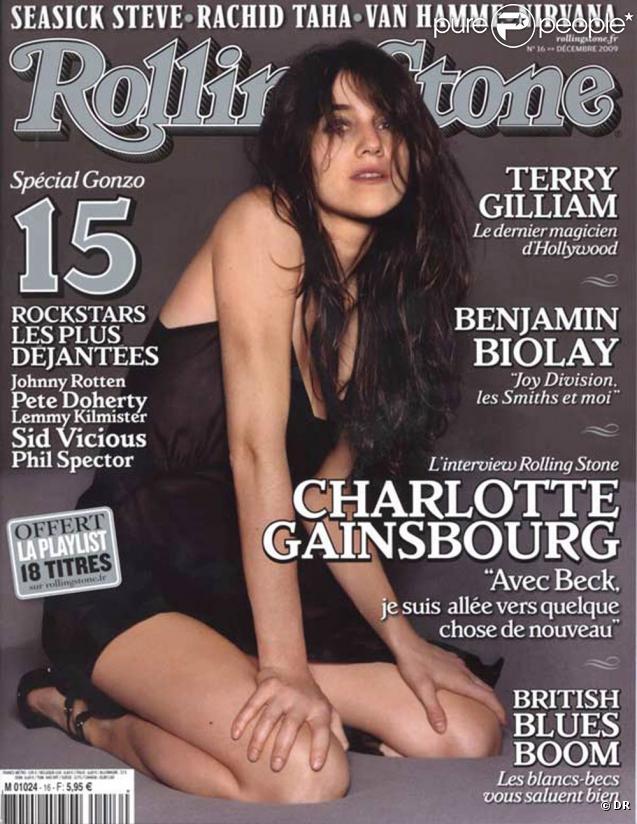 Charlotte Gainsbourg en couverture de  Rolling Stone .
