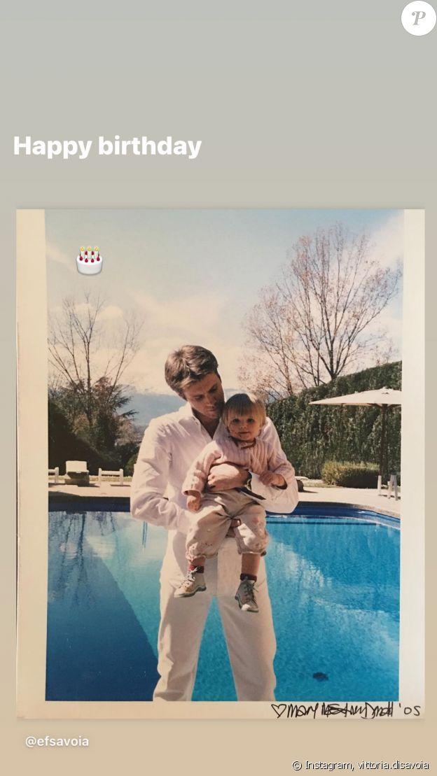 Le prince Emmanuel-Philibert de Savoie et sa fille la princesse Vittoria, sur Instagram le 22 juin 2021.