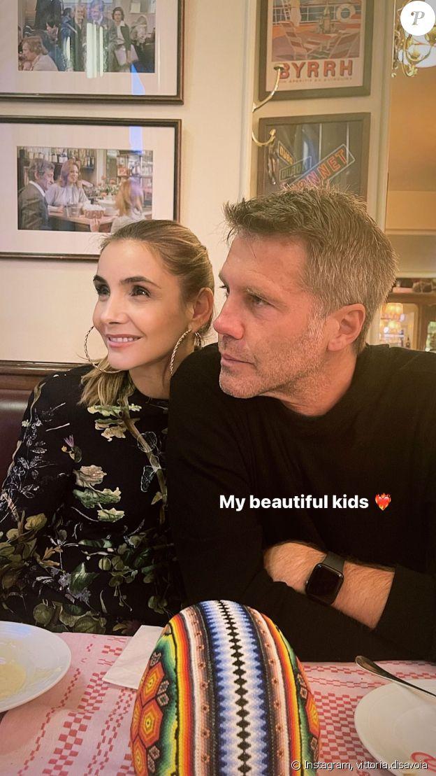 Le prince Emmanuel-Philibert de Savoie et son épouse Clotilde Courau sur Instagram, le 22 juin 2021.