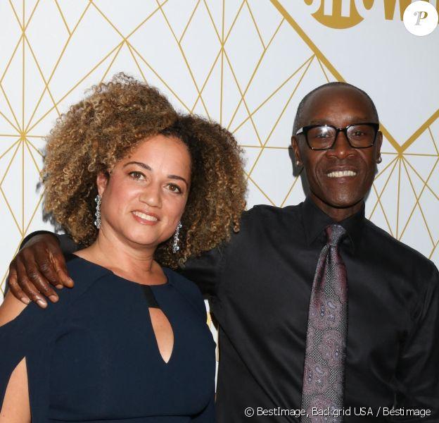 """Bridgid Coulter et son mari Don Cheadle assistent à la soirée """"Showtime"""" pour les nominés de la cérémonie des """"Emmy Awards"""" à Los Angeles"""