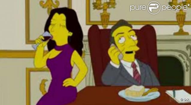 Nicolas Sarkozy et Carla Bruni dans les Simpson, épisode diffusé aux Etats-Unis le 15 novembre 2009