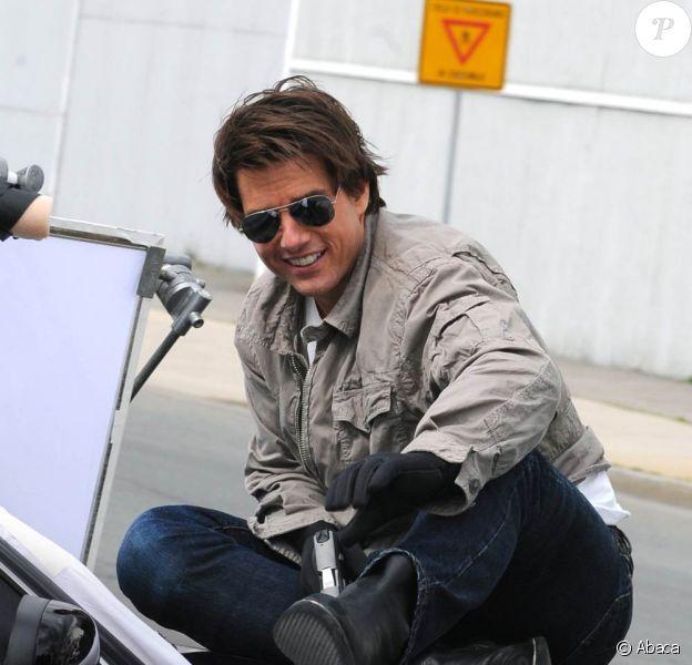 Tom Cruise lors du tournage de Knight and Day, à Boston, au début du mois de novembre 2009.