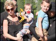 Britney Spears : Quand elle profite de ses enfants et de son amoureux... c'est dans une piscine fermée !