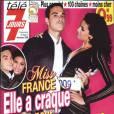 Robbie Williams et Chloé Mortaud en couverture de Télé 7 Jours