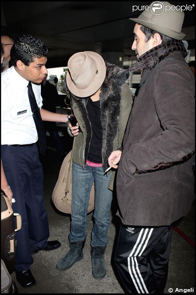 Marion Cotillard arrive à Los Angeles pour les Oscars