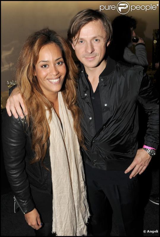 Amel Bent et Martin Solveig à la soirée Starfloor à Paris Bercy le 29/11/09