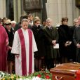 La Princesse Lea de Belgique aux obsèques du Prince Alexandre de Belgique