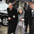 La Reine Fabiola aux obsèques du Prince Alexandre de Belgique