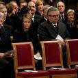 Le Prince Philippe, la Princesse Mathilde, le Prince Laurent et la Princesse Claire aux obsèques du Prince Alexandre de Belgique