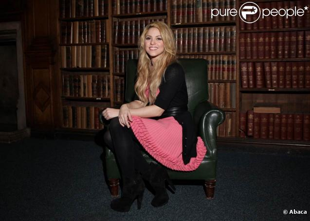 Shakira à l'université d'Oxford Union en Agleterre, le 7 décembre 2009
