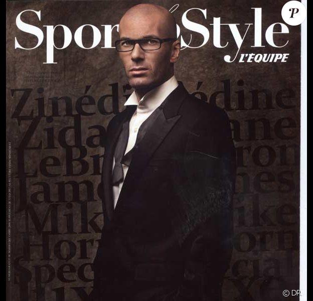 Zinedine Zidane en couverture de Sports & Style