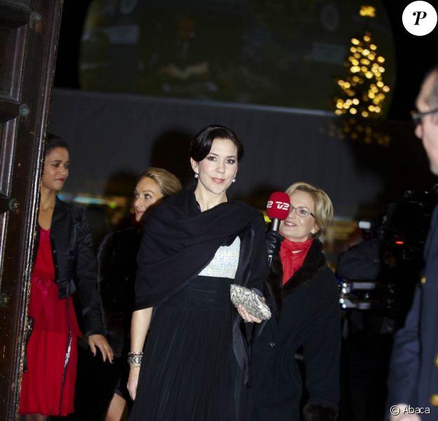La princesse Mary de Danemark a participé, le 9 décembre 2009, au défilé en faveur du Développement Durable, à Copenhague