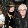 Marc Cerrone et sa femme lors de la soirée Chivas Christmas Knight chez Castel à Paris le 9 décembre 2009