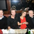 Daniel Russo, Philippe Caroit, Caroline Grimm et Marc Jolivet lors de la soirée Chivas Christmas Knight chez Castel à Paris le 9 décembre 2009